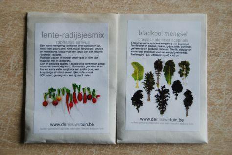 Lente radijsjes en bladkool