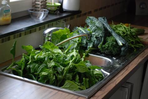 oogst in keuken